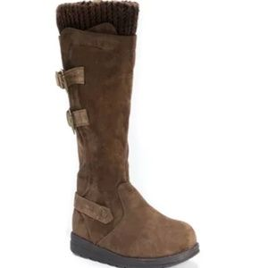 Women's Muk Luks Nora Mid Calf Boots - Brown